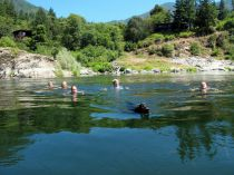 Summer vacation, swimming, hiking, rafting at Sandy Bar Ranch